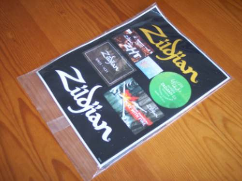 Calcomanias Y Revista Zildjian Z Time 10 / Stickers Original