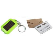 Calculadora De Bolsillo Llavero Lampara Solar