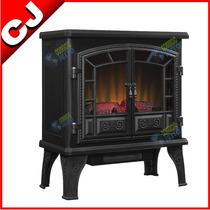 Chimenea Electrica 1500w Leños Luminosos Calefactor Interior