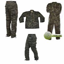 Uniforme Militar Gotcha Airsoft Camuflaje Tigre Verde