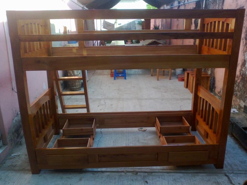 Cama litera desmontable en madera de cedro 7 - Cama litera de madera ...