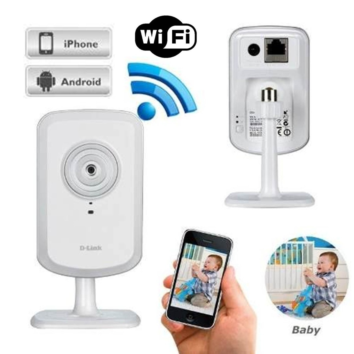Camara seguridad ip dlink dcs 930l mic wifi rj45 660 - Camara seguridad ip ...