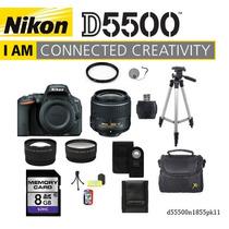 Camara Nikon D5500 Lente 18-55mm + 11 Accesorios Especiales
