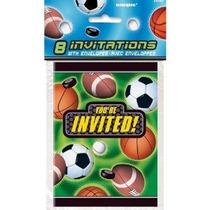 Action Sports Invitaciones 8ct