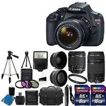 Canon Eos Rebel Digital Slr T5 + Canon Ef-s 18-55 Mm F / 3,5