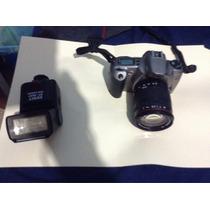 Cámara Canon Eos Rebel Xs Telefoto 20-200 Mm Flash