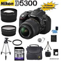 Nikon D5300 + 18-55mm + 2 Lentes + 10 Accesorios + 12 Meses