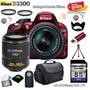 Camara Nikon D3100 + 18-55mm + 55-200mm + 13 Accesorios