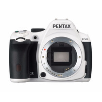 Pentax K-50 16mp Slr With 3 Lcd Body Only Color Blanca