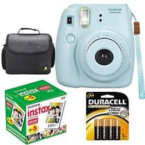 Kit Fotográfico Fujifilm Instax Mini 8 Cámara Color Azul