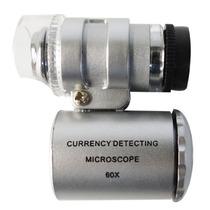 Microscopio Mini 60x Ajustable Con Led + Uv Obi