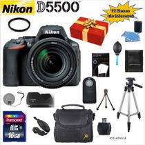 Camara Nikon D5500 18-140mm + 14 Acc. + Regalo + Bonos
