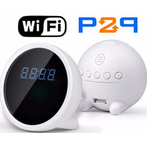 Reloj Despertador Cámara Espía Monitorea Desde Tu Celular
