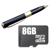 Mini Cámara Espia Pluma Hd Memoria 8gb Incluida
