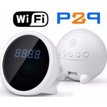 Reloj Despertador Camara Espia Wifi P2p Lente Sony 32gb