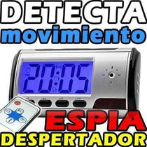 Reloj Despertador Espia Sensor De Movimiento 32 Gb Hd Sony