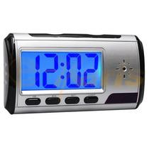 Reloj Despertador Y Camara Espia Recargable Sensor Movimient