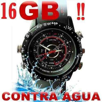 Reloj Espía Camara Oculta Sumergible Video Hd 16 Gb Sony Hd