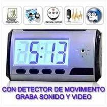 Micro Camara Espia Reloj Despertador Cctv Control Remoto Hd