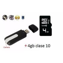Camara Espia Usb Sensor Detector De Movimiento 4gb Classe 10