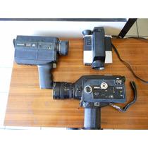 3 Cámaras De Cine Super 8. Kodak Nikon Bell & H Decorarativa