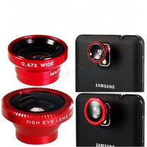 Lente 3 En 1 Magnético Rojo Iphone, Galaxy, Lg, Htc Otros