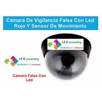 Camara De Vigilancia Falsa Con Led Rojo Y Sensor De Movimien