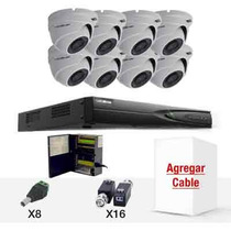 Kit Epcom Turboe78 Dvr Ev1008 Y 8 Cam Domo E7 Turbo 720