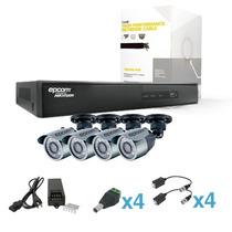 Kit Cctv 4 Canales Sistema Hdx Video Grabadora Digital Hibri