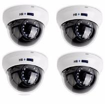Paquete 4 Camaras Domo 900 Tvl Epcom Vision Nocturna 20m