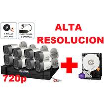 Kit 8 Camaras Disco 1tb Purple Alta Resolucion Cctv Hdcvi