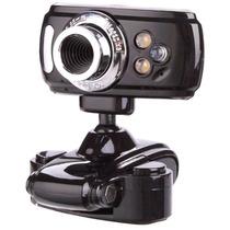 Cámara Webcam Hd Con Micrófono Usb Zoom Led Alta Resolución!