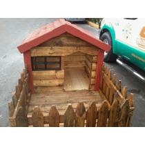 Casa Para Perro Chico Con Cerca