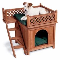 Casa Casita Para Perros Mascotas Madera Vbf