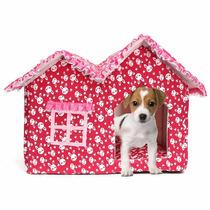 Casa Cama Plegable Y Portátil Para Mascota Raza Pequeña