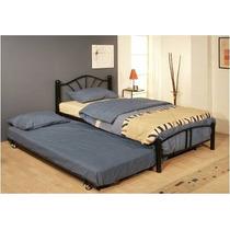 Base para cama individual con cama baja corrediza camas for Camas compactas desplazables