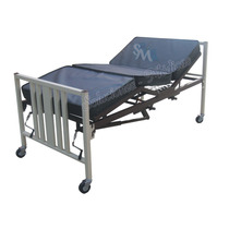Cama Para Hospital Manual Con Ruedas Y Colchón Seccionado