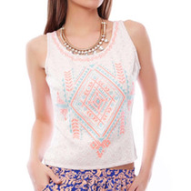 Blusa Top Max & Mitch Tribal Casual Padrisima Hippie