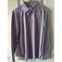 Camisa Armani Exchange. Gris. Talla S. 100% Original.