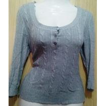 Blusa Tipo Sweater Aeropostale Gris Talla M Op4