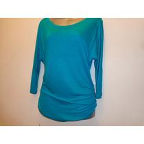 Blusa Forever 21 Azul-verde Tallas: S Modelo:671