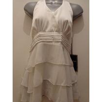 Blusa Blanca Gasa Love Stitch Talla:m Modelo:691