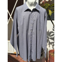 Camisa Casual Stafford Tallas Extra 3xlt Cuello 19 Gris