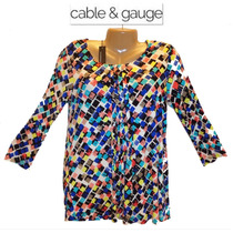Blusa Talla S Chica Cable & Gauge Stretch Colores Hermosa!!