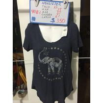 Blusa Hollister Azul Talla Xs Nueva 4087