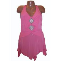 Padrisima Blusa Rosa S Chica Mini Vestido Sup Sexy Moda 2012