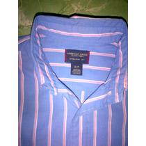 American Eagle Azul Con Rayas Blanco/rosa Daa