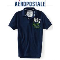 Aeropostale Playera S Chica Polo Hombre Nino Azul Marino Ve