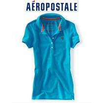 Playera Aeropostale Xs X Chica Polo Azul Mujer Nina Padrsma