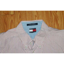 Camisas Tommy Hilfiger Rayas Rojas Talla Xl